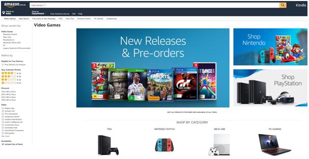 Amazon video games