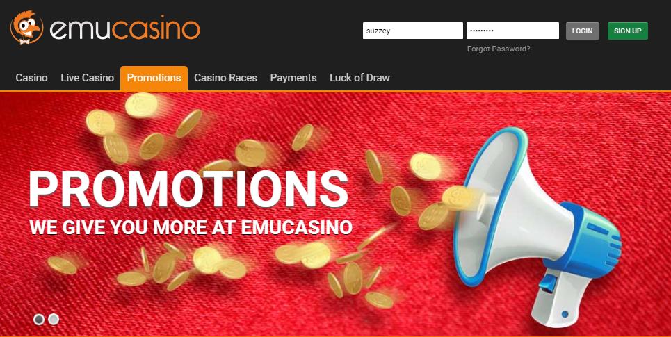 Emu Casino Promotions
