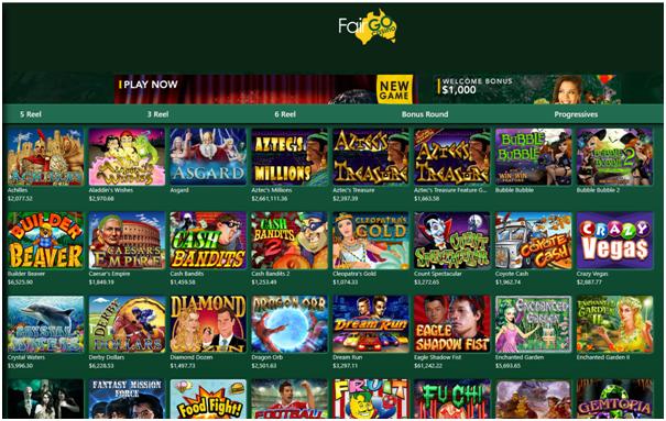 Fair Go online casino games