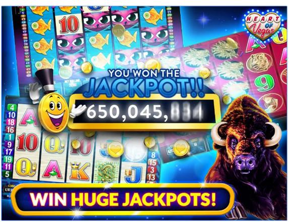 Heart of Vegas App- Jackpots