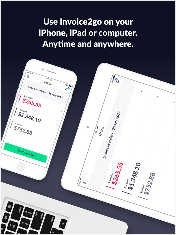 Invoice2go app for iOS and Android free download