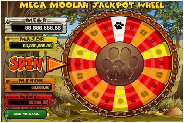 Mega Moolah pokies game jackpot wheel