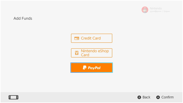 How to add paypal funds to Nintendo store to buy games