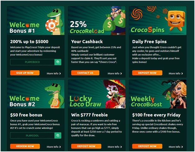Play croro casino bonuse and offers