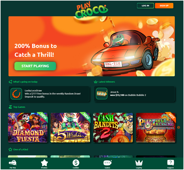 Does Play Croco the new online casino in Australia accept Paypal?