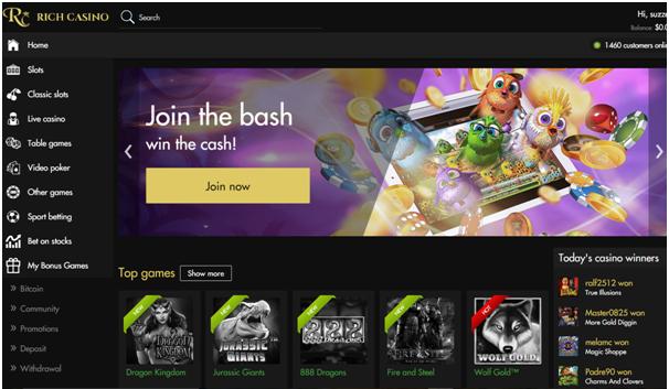 Rich Casino Mobile Games