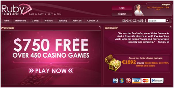Ruby Fortune Casino Australia