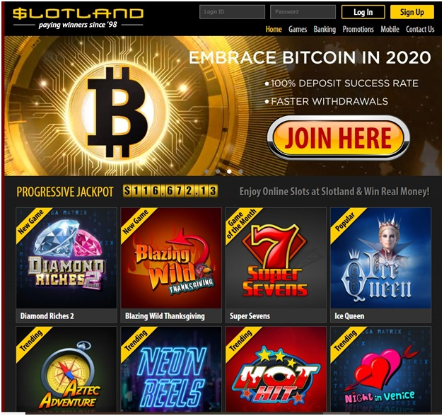 Slotland Casino Paypal with Bitcoins