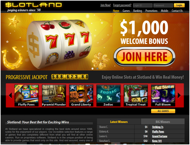Slotland casino for paypal pokies