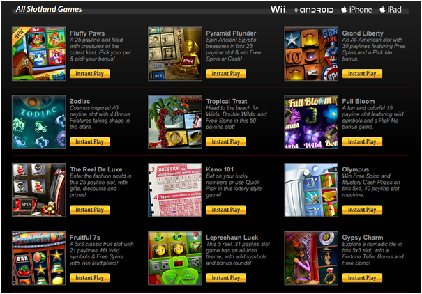 Slotland games for Paypal pokies