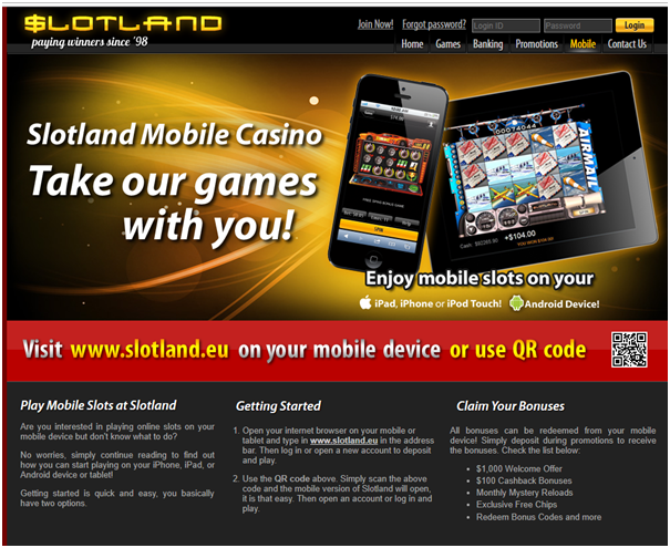 Slotland casino mobile games