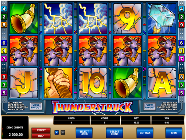 Thunderstruck pokies- Payouts