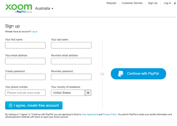 What are the five easy steps to send money with PayPal Xoom