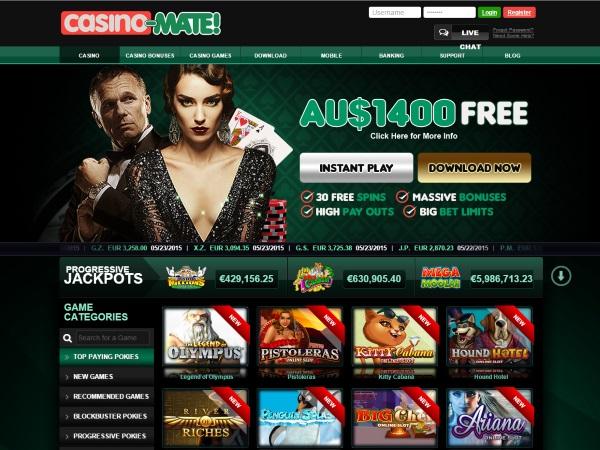 casino mate 1400 bonus