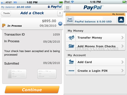 how to cash a check in paypal