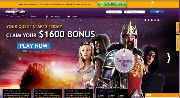 Jackpot City 1600 Bonus - Click to Play