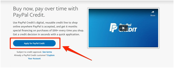 paypal credit AU- how to apply